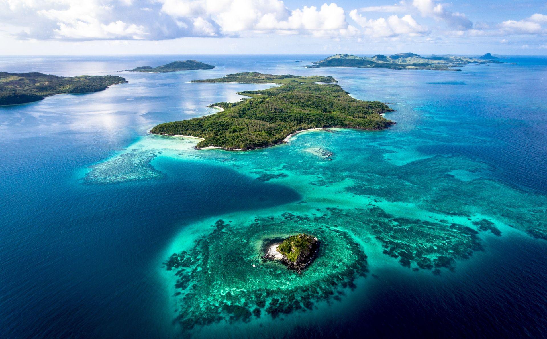 Turtle Island Fiji aerial