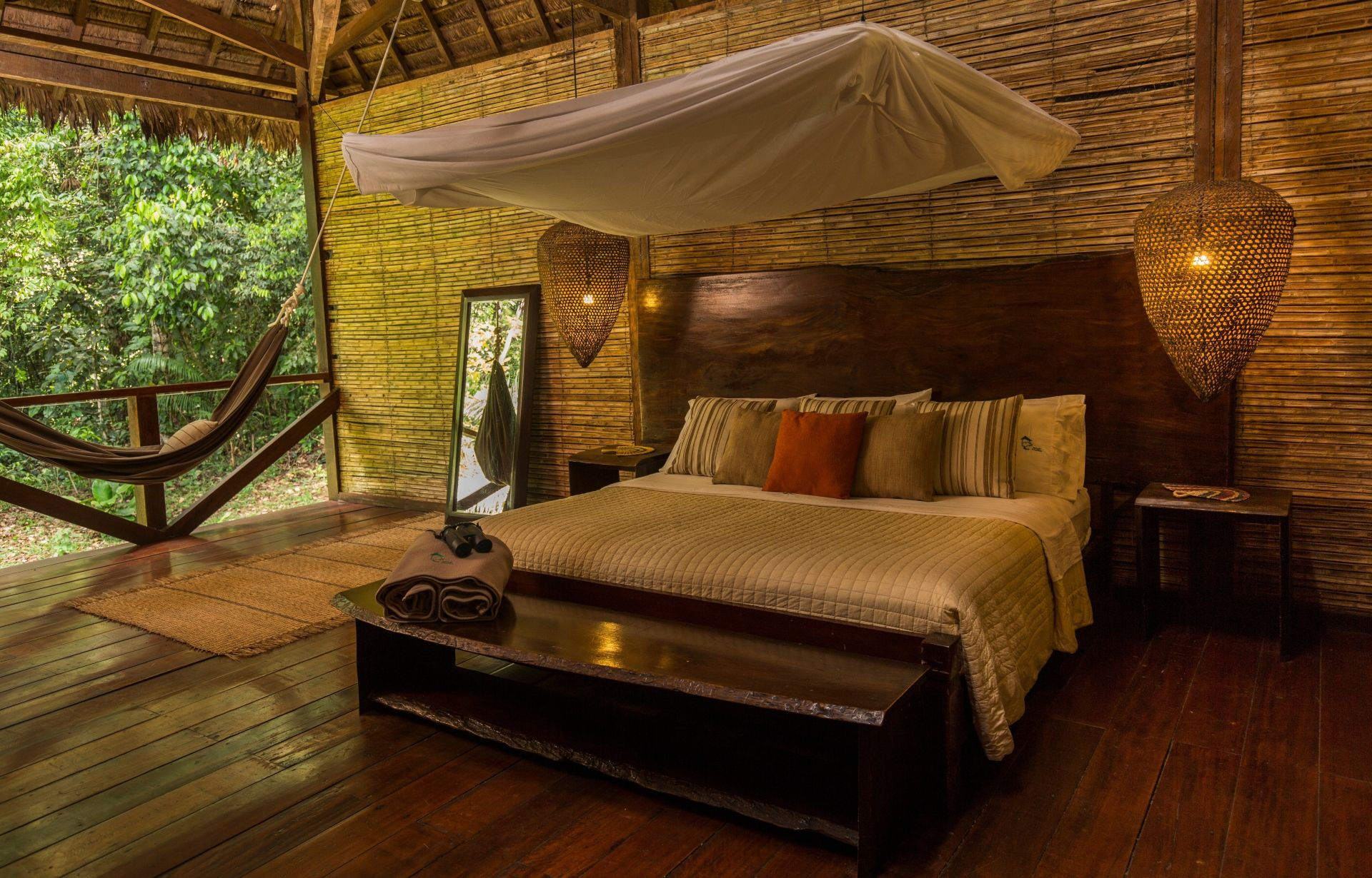 Comfortable accommodation at Refugio Amazonas