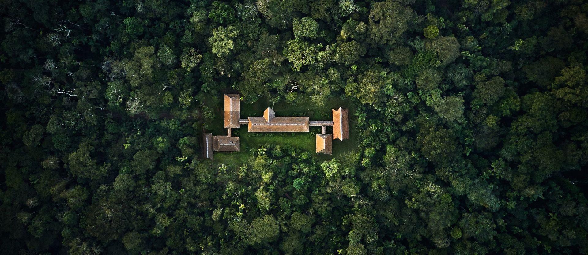 Aerial of Refugio Amazonas (Photo Credit: Paul Bertner)